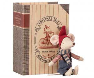 Christmas Mouse in Book Big Brother - Maileg