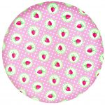 Bamboo Plate Strawberry Pale Pink -GreenGate