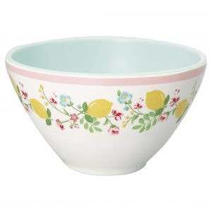 Melamine Cereal Bowl Limona White