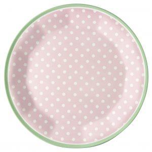 Assiette Mélamine Spot Pale Pink -GreenGate
