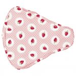 Bike Seat Cover Strawberry Pale Pink