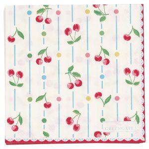 Serviettes en Papier Cherry White - Greengate