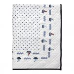 Quilted Kids Bed Cover Noah White