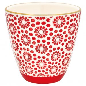 Latte Cup - Cup Kelly red