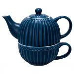 Tea For One Alice Dark Blue GreenGate