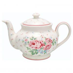 Teapot Roud Marley White GreenGate