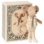Dancer In Matchbox Little Brother Mouse - Maileg