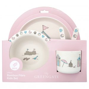 Kids Dinner Bamboo Set - Ellison Pale Pink