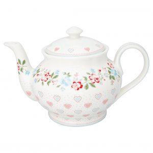 Teapot Round Sonia white GreenGate