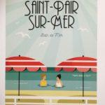 Affiche - Saint Pair Sur Mer - Bain De Mer - les petits yéyés