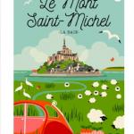 Affiche - Le Mont Saint Michel - les petits yéyé