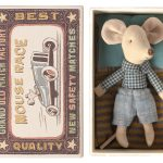 Little Brother Mouse Carreaux - Maileg