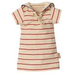 Clothes - Dress Rayures Marin For Bunnies Size 2- Maileg