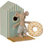 Beach Mice -Little Brother Cabine De Plage - Maileg